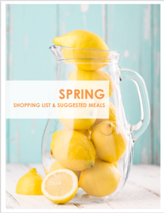 Spring Shopping List and suggested meals