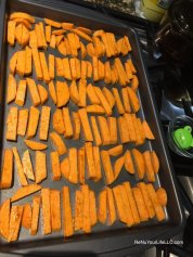 7 Sweet Potato fries on baking sheet Optm