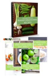 Vegetarian recipe collage
